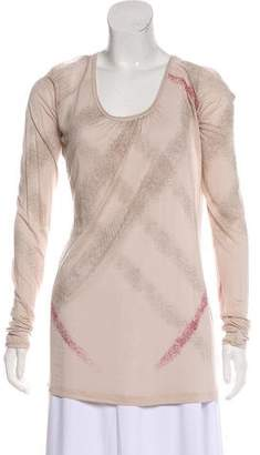 Burberry Printed Long Sleeve Tunic