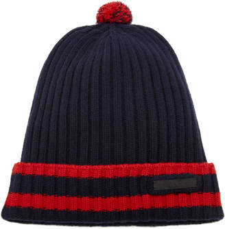Prada Striped Wool and Cashmere Beanie