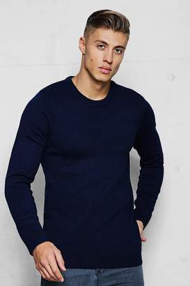 boohoo Fine Gage Regular Crew Neck Jumper