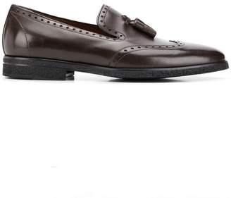 a. testoni brogue detail loafers