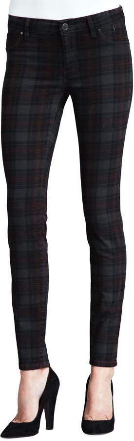 Blank Tartin Martin Plaid Skinny Jeans