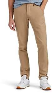 Barneys New York MEN'S TORINI COTTON TWILL STRAIGHT-LEG CHINOS - CAMEL SIZE 38