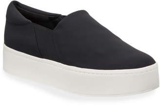 Vince Warren Fabric Slip-On Platform Sneakers