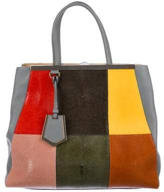 Fendi Patchwork Stingray Large 2Jours Tote