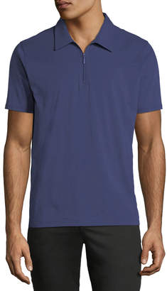 Neiman Marcus Zip-Up Polo Shirt