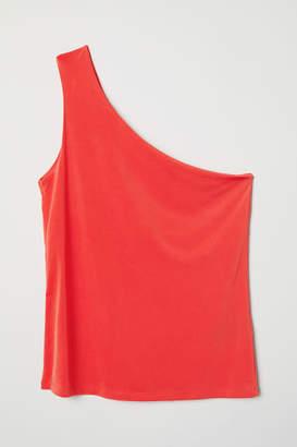 H&M One-shoulder Top - Orange