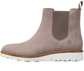 Timberland Womens Ellis Street Chelsea Boots Taupe Grey