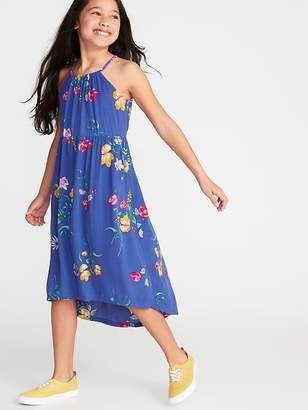 Old Navy Floral-Print Suspended-Neck Midi for Girls