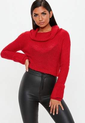 Missguided Open Stitch Roll Neck Knitted Jumper