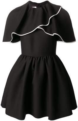 Valentino cape-style mini dress