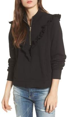 Wildfox Couture Prima Ruffle Warm-Up Pullover
