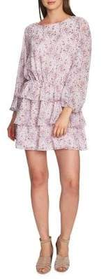1 STATE 1.STATE Smocked Ruffle Mini Dress