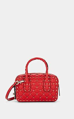 Valentino Women's Rockstud Spike Small Leather Shoulder Bag - Red