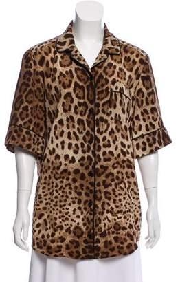 Dolce & Gabbana Silk Printed Pajama Top