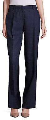 Lafayette 148 New York Women's Rivington Finite Italian Flannel Wide-Leg Pants