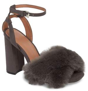Topshop Sassy Faux Fur Sandal
