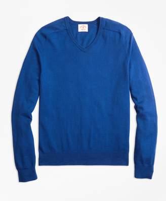 Brooks Brothers (ブルックス ブラザーズ) - 【オンライン限定 Spring Sale】Red Fleece コットン/カシミヤ サドルショルダー Vネックセーター