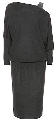 Brunello Cucinelli Precious Strap cashmere-blend dress
