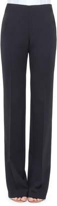 Akris Carol Double-Face Wool Pants, Navy
