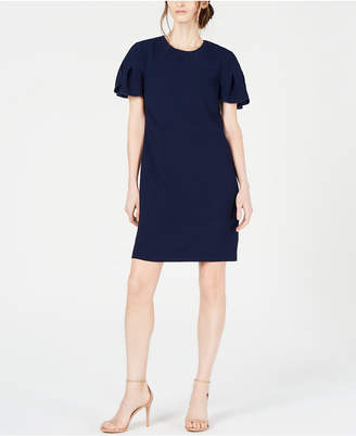 Trina Turk Jacinta Petal-Sleeve Crepe Dress