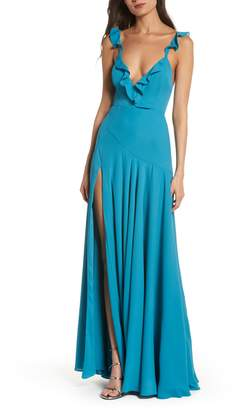 Fame & Partners The Cora Ruffle Gown