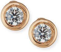 Roberto Coin 18k Gold Diamond Stud Earrings