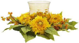 August Grove Martineau Silk Golden Sunflower Candelabrum