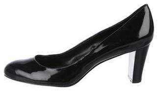 Calvin Klein Semi Pointed-Toe Patent Leather
