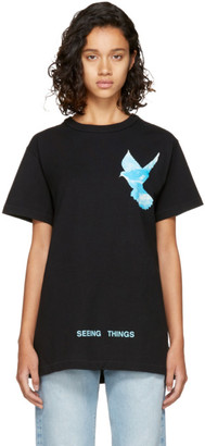 Off-White Black 'Not Real' Dove T-Shirt $305 thestylecure.com
