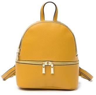 Sofia Cardoni Pebbled Leather Mini Backpack
