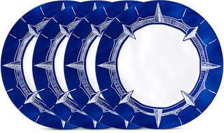 """Q Squared Portsmouth 4-Pc. Melamine 10.5"""" Dinner Plate Set"""