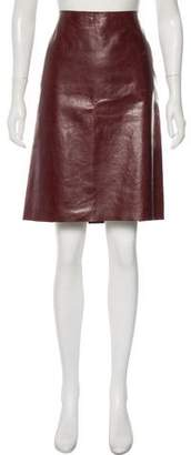 Calvin Klein Collection Leather Pencil Skirt