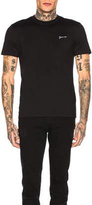 Givenchy Script Logo Tee in Black | FWRD