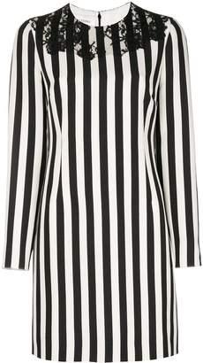 Valentino striped long sleeved dress