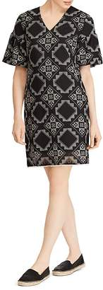 Lauren Ralph Lauren Tile-Print Bell-Sleeve Dress
