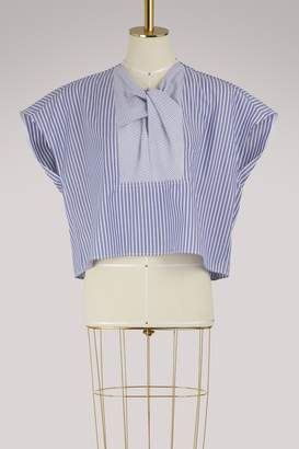 Carven Striped cotton top
