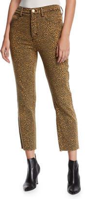d485617e4341 Current/Elliott The Stiletto High-Rise Leopard-Print Jeans