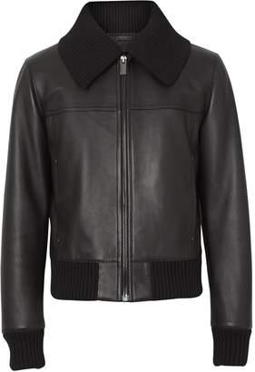 Burberry Detachable Collar Lambskin Bomber Jacket