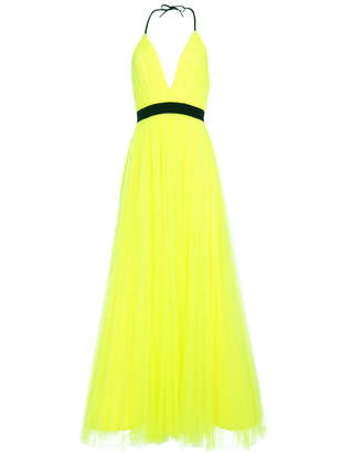 Alice + Olivia BITSY NEON PLEATED GOWN