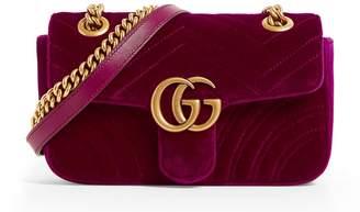 Gucci Mini Velvet Marmont Shoulder Bag