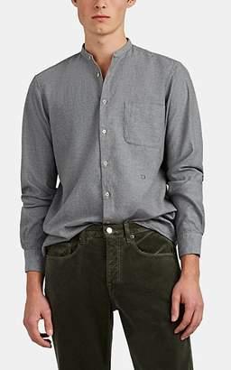 Massimo Alba Men's Brushed Cotton Shirt - Gray