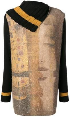 D-Exterior D.Exterior zipped neckline jumper