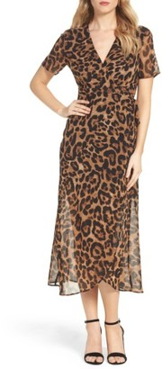 Women's Bardot Leopard Print Wrap Dress $99 thestylecure.com