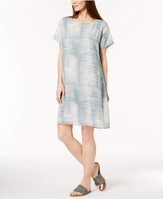 Eileen Fisher Silk Boat-Neck Dress, Regular & Petite