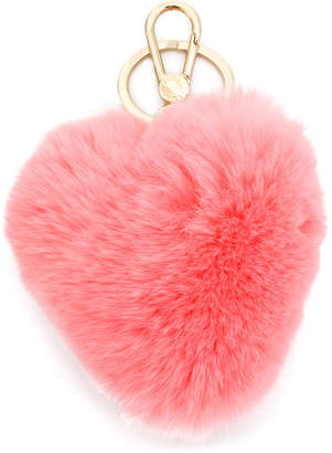 Furla heart shaped keychain