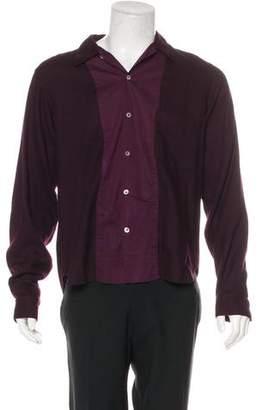 Ann Demeulemeester Wool Button-Up Shirt