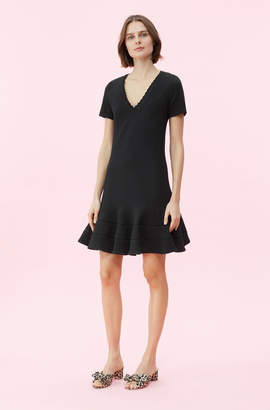 Rebecca Taylor Stretch Texture V-Neck Dress