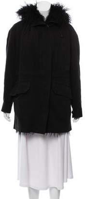 Joseph Fur-Lined Hooded Jacket