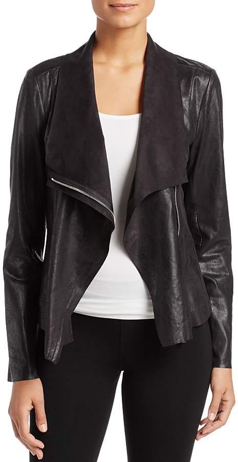 Calvin Klein Distressed Draped Lapel Jacket