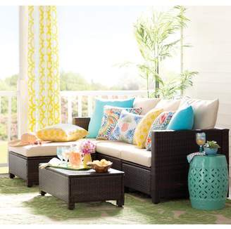 Mercury Row Lachesis 5 Piece Rattan Sectional Set with Cushions